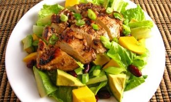 Chicken Salad with Diced Mango