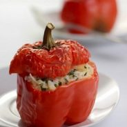 Stuffed Roasted Red Pepper